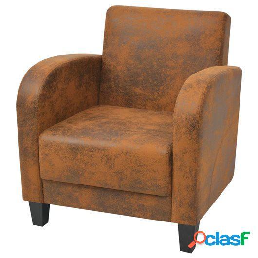 Sillón marrón 73x72x76 cm