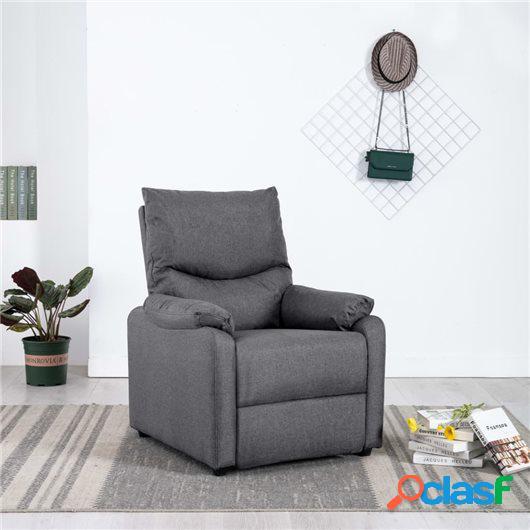 Sillón reclinable para TV de tela gris oscuro
