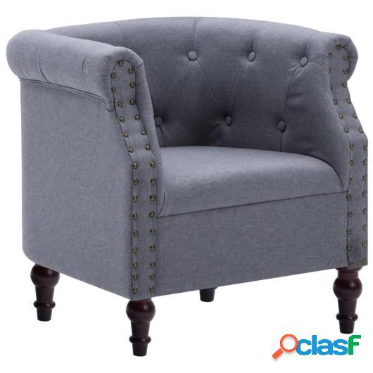 Sillón tapizado de tela 67x60x67 cm gris claro