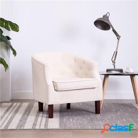 Sillón tapizado de tela beige 65x64x65 cm