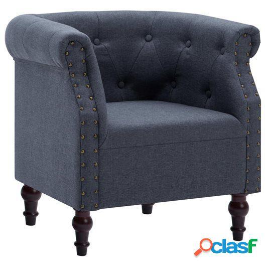 Sillón tapizado de tela gris oscuro 67x60x67 cm