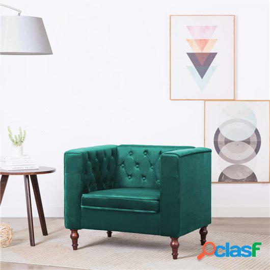 Sillón tapizado de terciopelo 86x67x71 cm verde