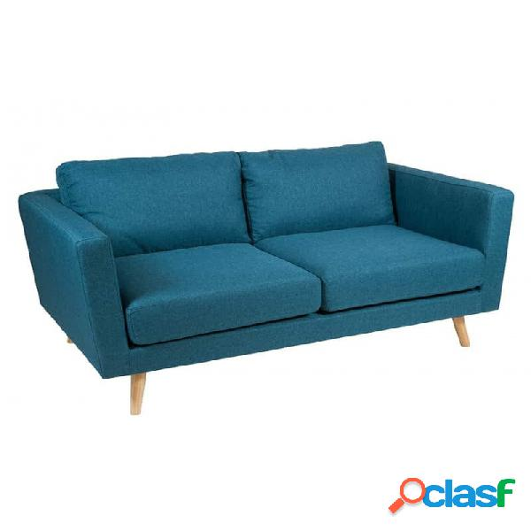 Sofá Azul Madera Moderno 148 X 88 83
