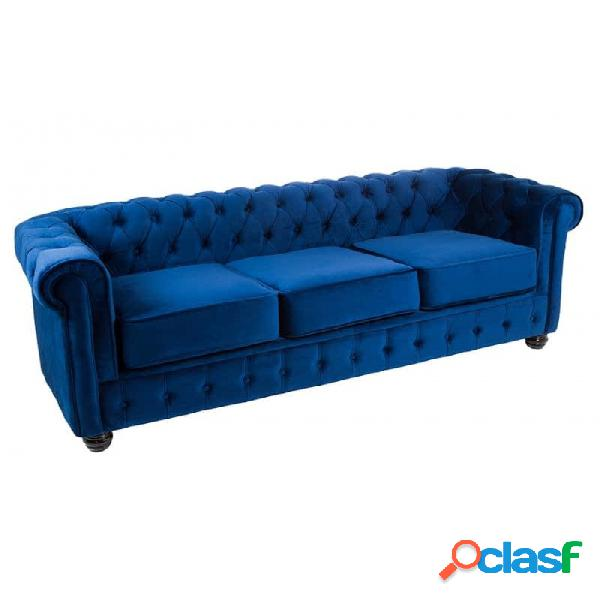 Sofá Azul Moderno 200 X 80 72