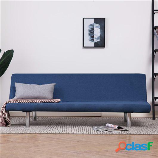 Sofá cama de poliéster azul