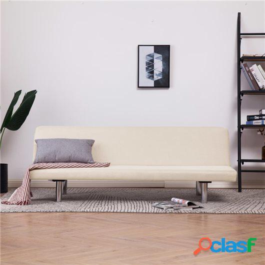 Sofá cama de poliéster color crema