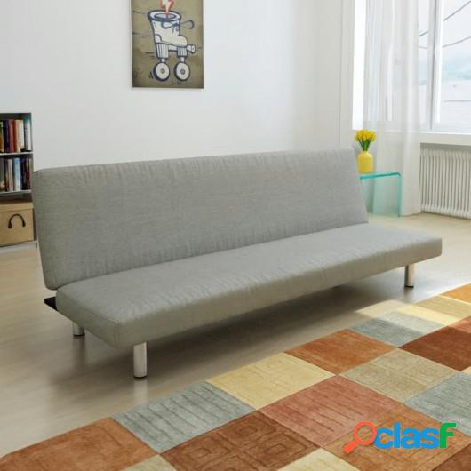Sofá cama de poliéster gris