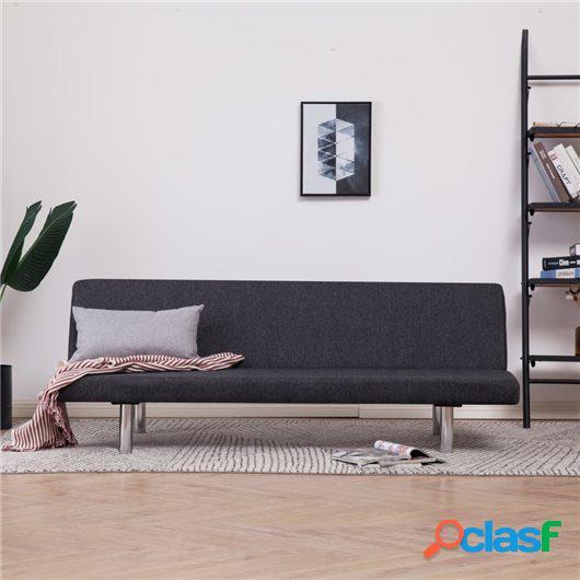 Sofá cama de poliéster gris oscuro