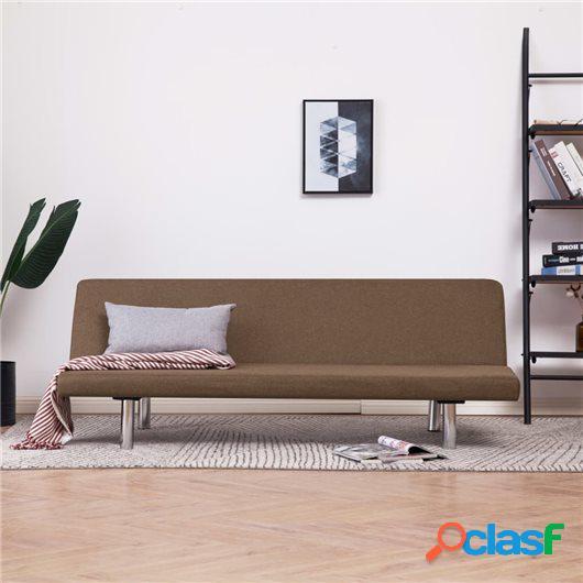 Sofá cama de poliéster marrón