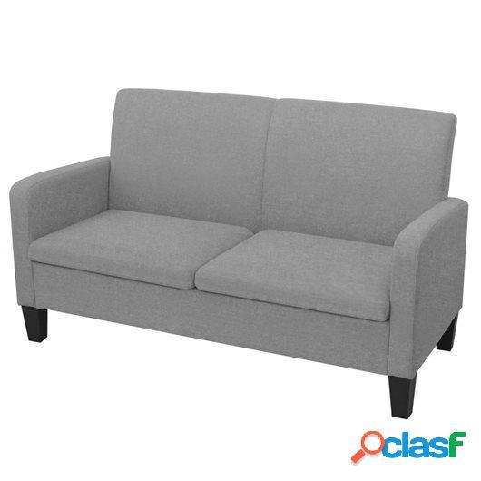 Sofá de 2 plazas 135x65x76 cm gris claro