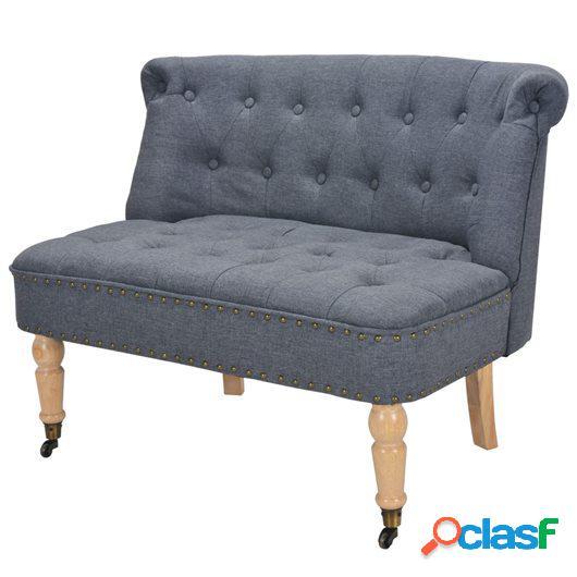 Sofá de 2 plazas de tela 94x67x76 cm gris oscuro