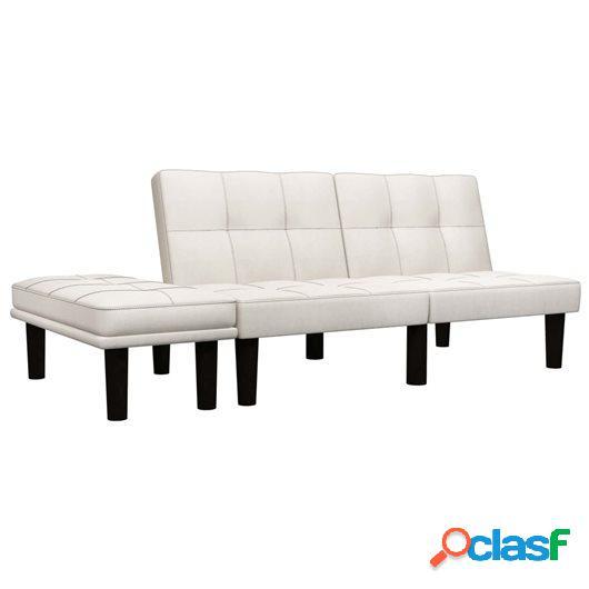 Sofá de 2 plazas de tela color crema