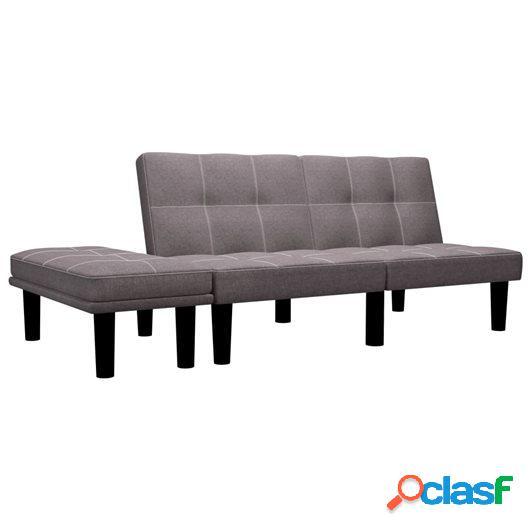 Sofá de 2 plazas de tela color gris topo