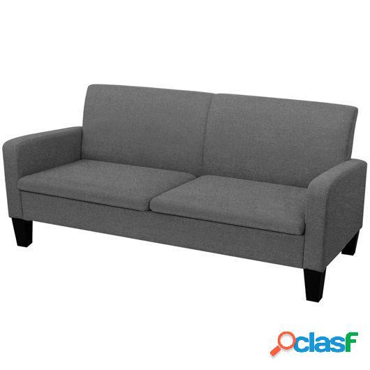 Sofá de 3 plazas 180x65x76 cm gris oscuro