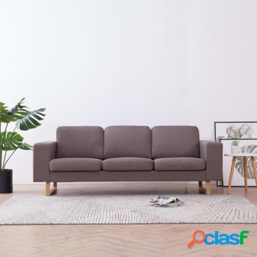 Sofá de 3 plazas de tela color gris topo
