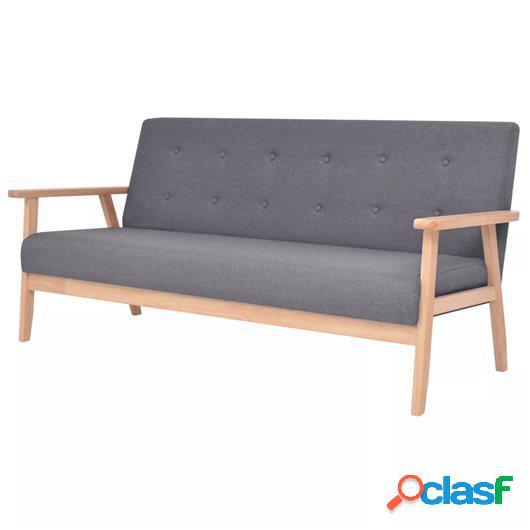 Sofá de 3 plazas de tela gris oscura