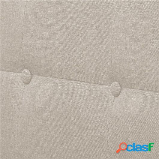 Sofá de dos plazas con apoyabrazos de acero y tela color