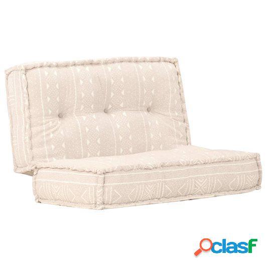Sofá de tela marrón claro 120x120x20 cm