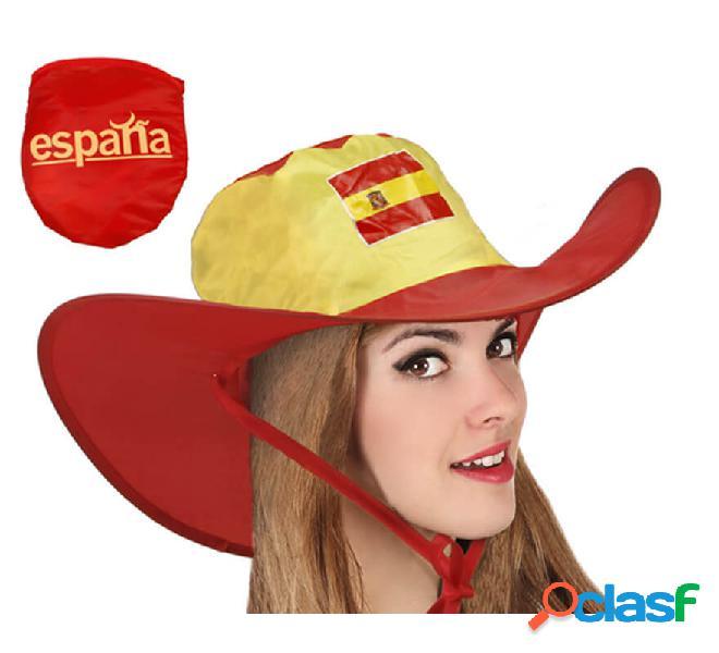 Sombrero Vaquero de la Bandera de España plegable