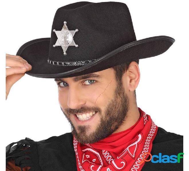 Sombrero de Sheriff Negro con Estrella
