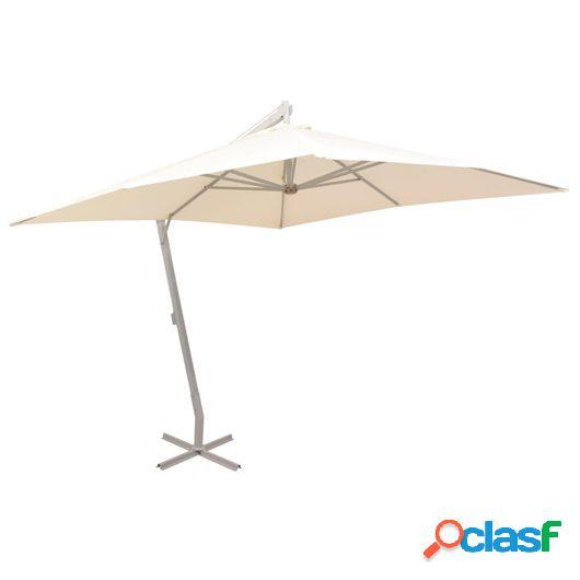 Sombrilla colgante con palo de aluminio 300x300 cm arena