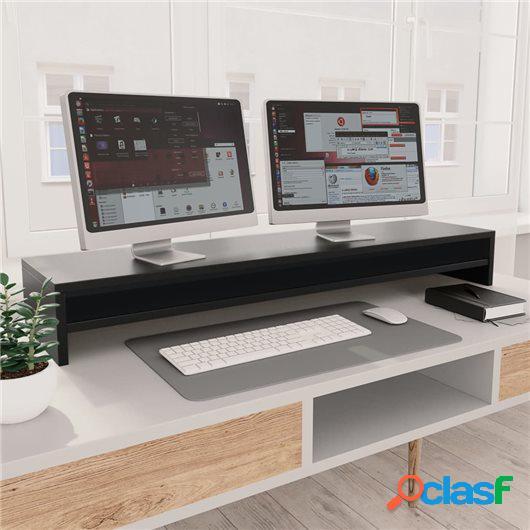 Soporte de mesa para pantalla de aglomerado negro 100x24x13
