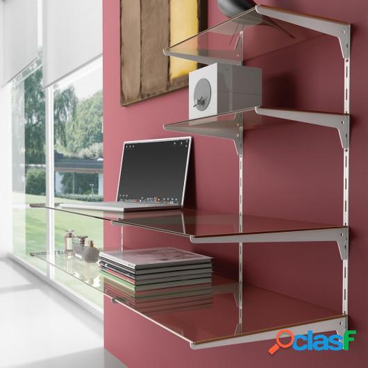 Soporte para estante de madera/cristal, perfil paso 50 mm,