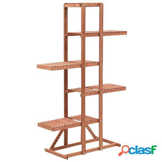 Soporte para plantas de madera de cedro 86x36x139 cm