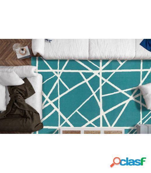 Strokes. alfombra moderna de lana y tencel