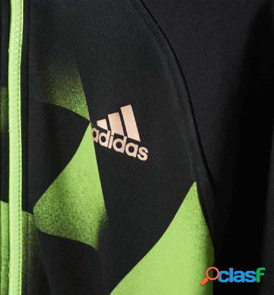 Sudadera Con Capucha Futbol Adidas Yb Dis Fz Hd 152 Negro