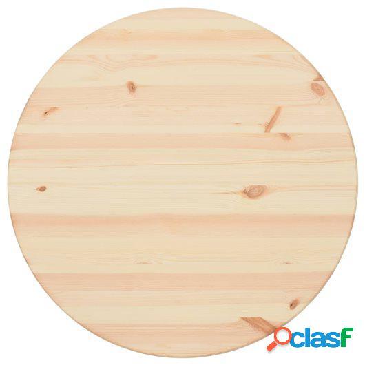 Tablero de mesa redondo de pino natural 28 mm 60 cm
