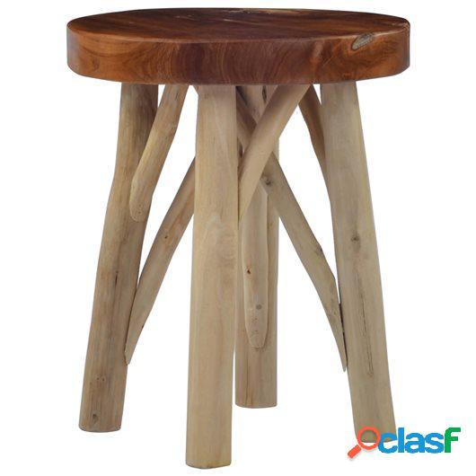 Taburete de madera de teca marrón