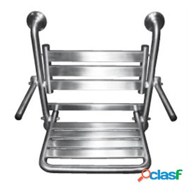 Timblau - Asiento ducha abatible acero brillo con