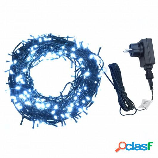 Tira de luces 400 LEDs interior exterior IP44 40 m blanco