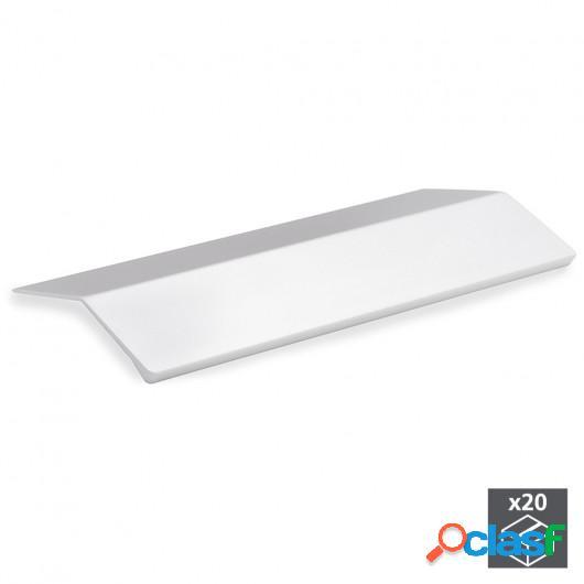 Tirador adhesivo para mueble, 158 mm, Aluminio, Anodizado