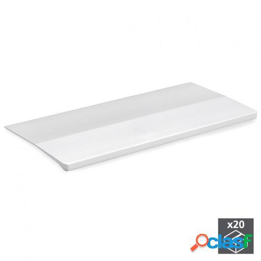 Tirador adhesivo para mueble, 94 mm, Aluminio, Anodizado