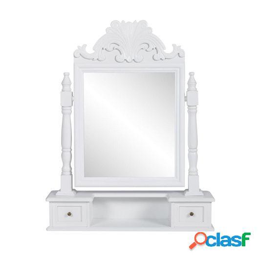 Tocador con espejo abatible rectangular de MDF
