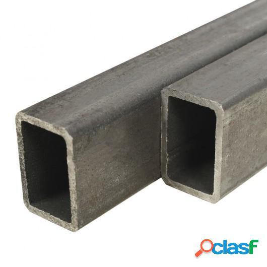 Tubo acero estructural rectangular 2 uds caja 1 m 60x40x3mm