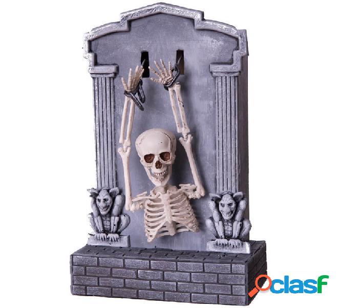 Tumba Esqueleto con Luz, Sonido y Movimiento de 21x11x35 cm