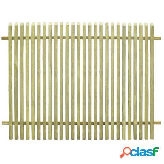 Valla de jardín de madera de pino impregnada FSC 170x125 cm