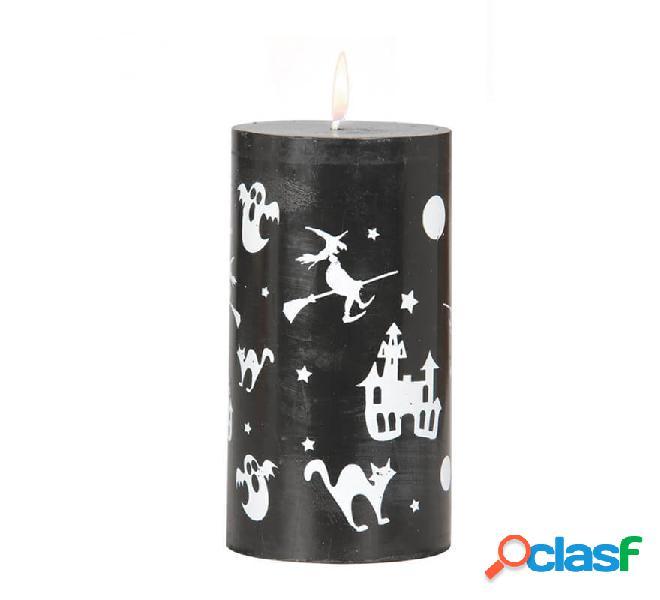 Velón negro con figuras de 13x7 cm
