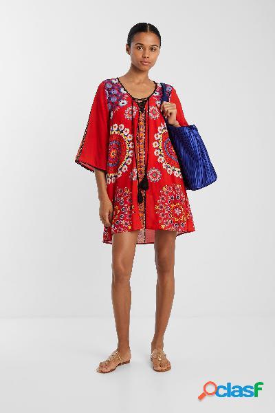 Vestido playero con mandalas florales - RED - L