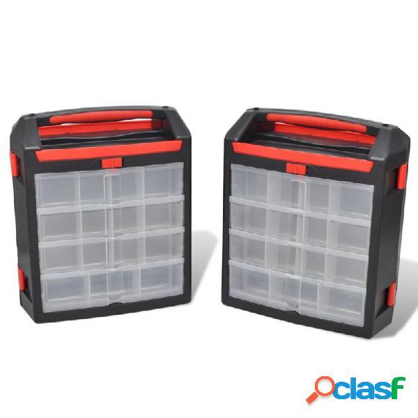 VidaXL - Caja organizador de herramientas, 2 unidades Vida