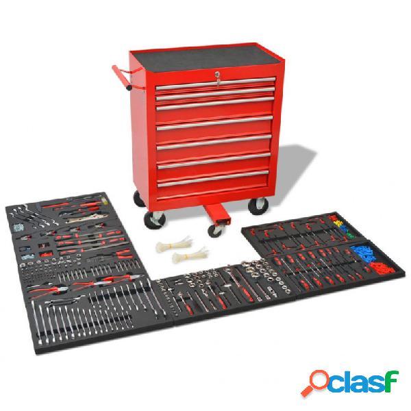 VidaXL - Carrito de herramientas 1125 herramientas acero