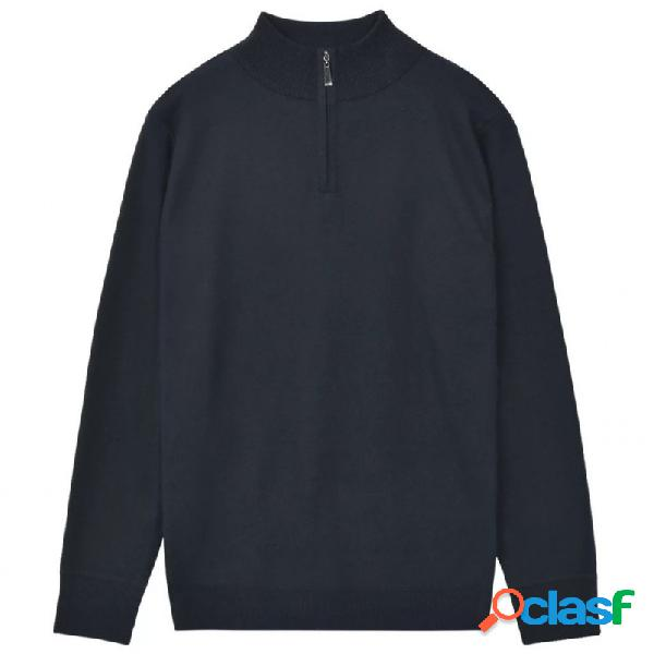 VidaXL - Jersey de hombre con cremallera azul marino M Vida