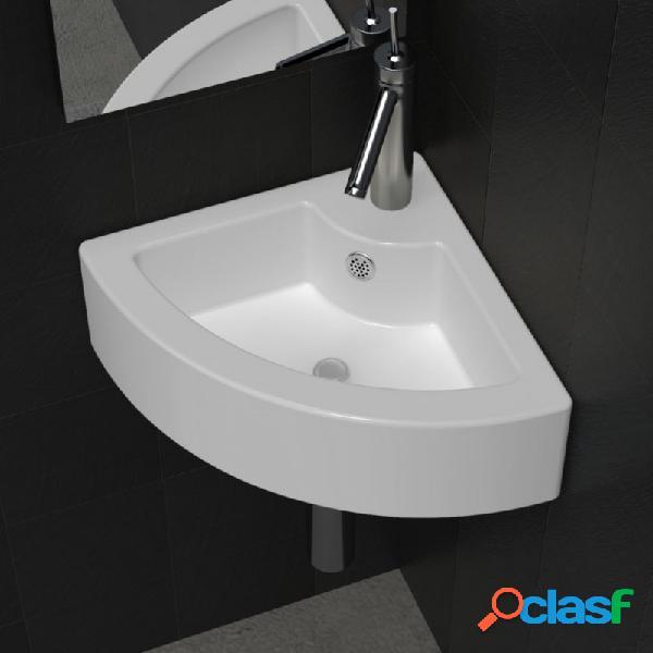 VidaXL - Lavabo con rebosadero blanco 45x32x12,5cm Vida XL
