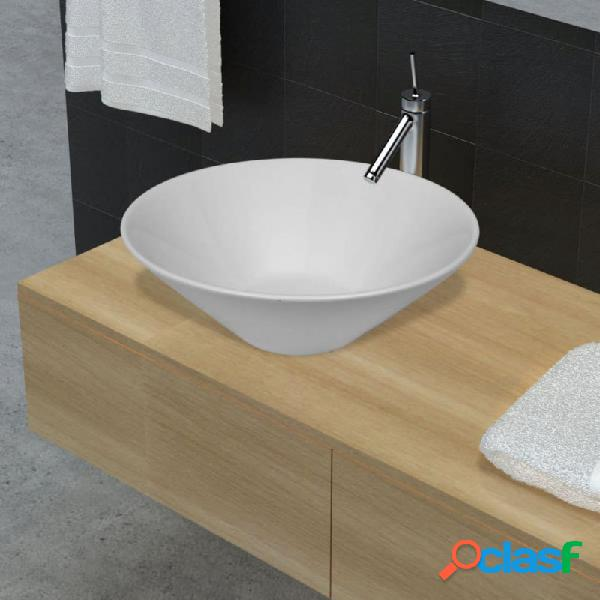 VidaXL - Lavabo de cerámica porcelana Art blanco Vida XL