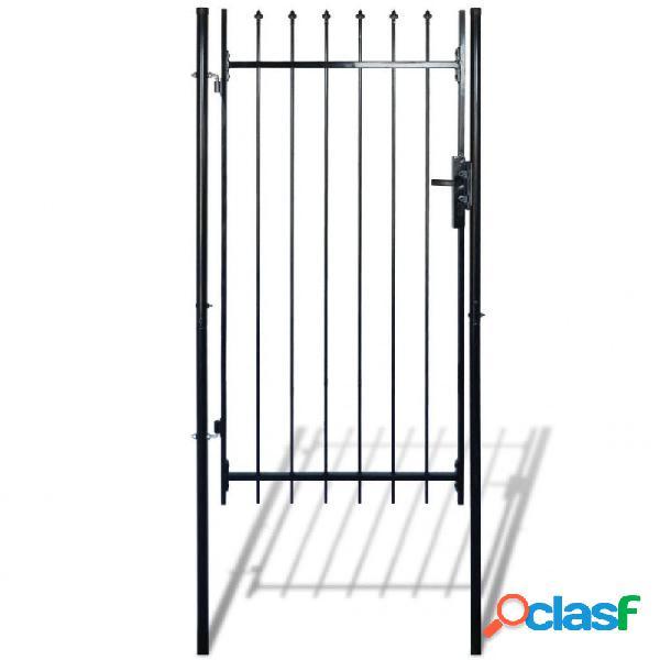 VidaXL - Puerta para valla con puntas de lanza 100x150cm