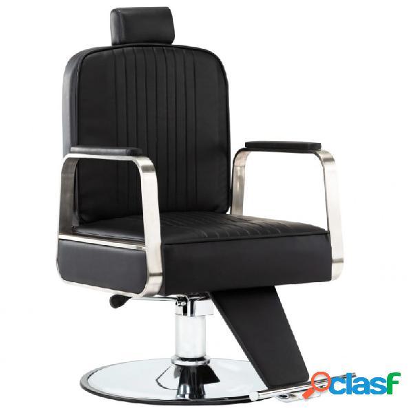 VidaXL - Silla de peluquería profesional de cuero