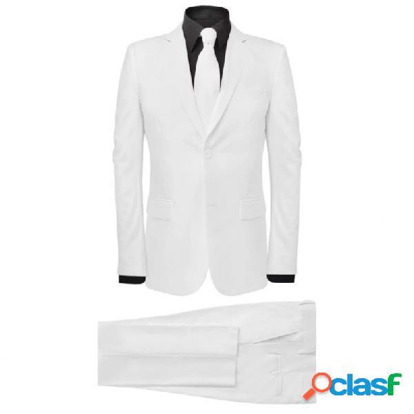 VidaXL - Traje de Hombre 2 Piezas con Corbata Color Blanco